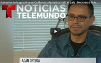 OSG Principal Adán Ortega discusses gas price increases in California with Telemundo.